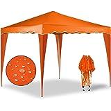 Gazebo Capri 3x3m arancio - Gazebo pieghevole Tenda Tenda da giardino Protezione solare Pop-up