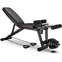 Workout Bench Olympic Workout Bench Press,Adjustable Weight Bench,Body Solid Leg Extension Leg Curl Machine,For Full…