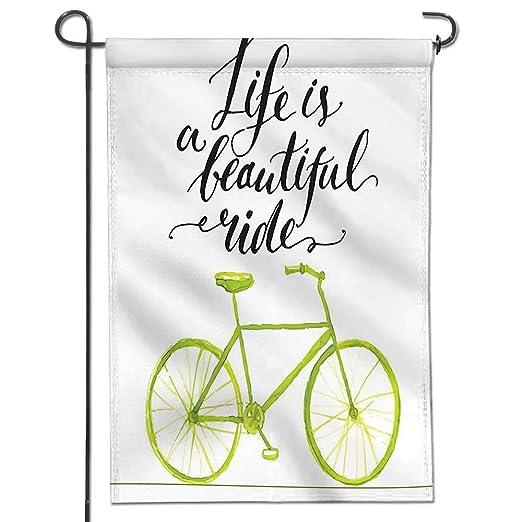 Mikihome - Bandera de jardín Vintage para Bicicleta en la Parte ...