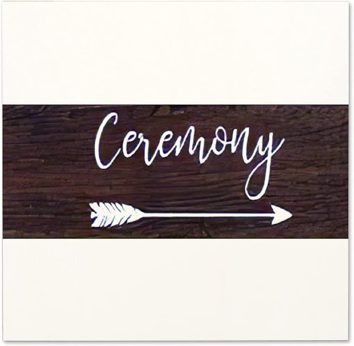 NOT BRANDED Ceremony Rustic Wood Wedding Arrow Wood Sign Inspirational Wall Art , Rustic Saying Signs, Home Decor, for Bedroom Living Room Office 12×12×0.2 inches