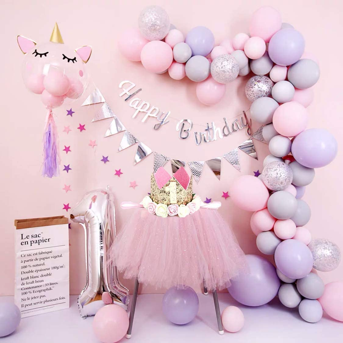 2x A New Little Princess Foil Balloon for Baby Girl Shower Small Size