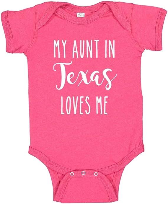 inktastic My Aunt in Texas Loves Me Newborn Layette