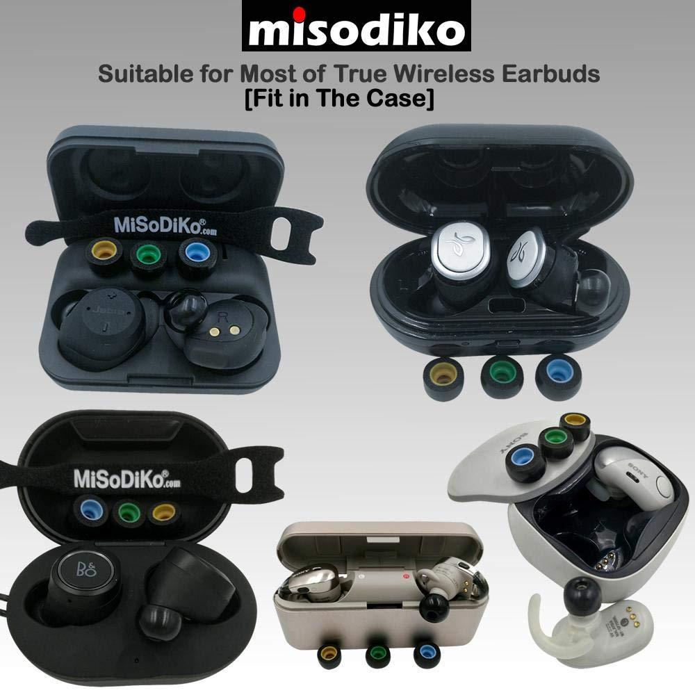 3 Paires, S Galaxy Buds Active The Headphone//Samsung Gear IconX misodiko TWS-Pro Embouts D/écouteurs en Mousse /à M/émoire de Forme pour Jabra Elite 65t Elite Sport//Bragi Dash Pro