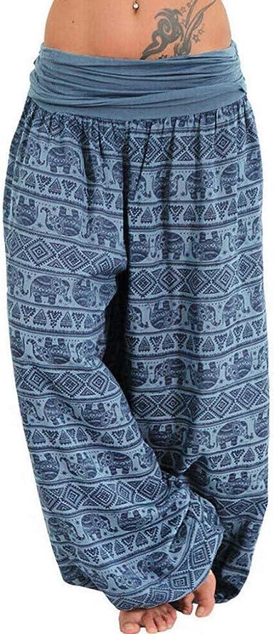 Zezkt Pantalones De Yoga Sueltos Mujer Harem Pantalones Mujer Verano Impresion Haren Pantalon Pantalones Anchos Mujer Pantalones Harem Vintage Pantalon Elastico Para Mujer Con Estampado Floral Amazon Es Ropa Y Accesorios