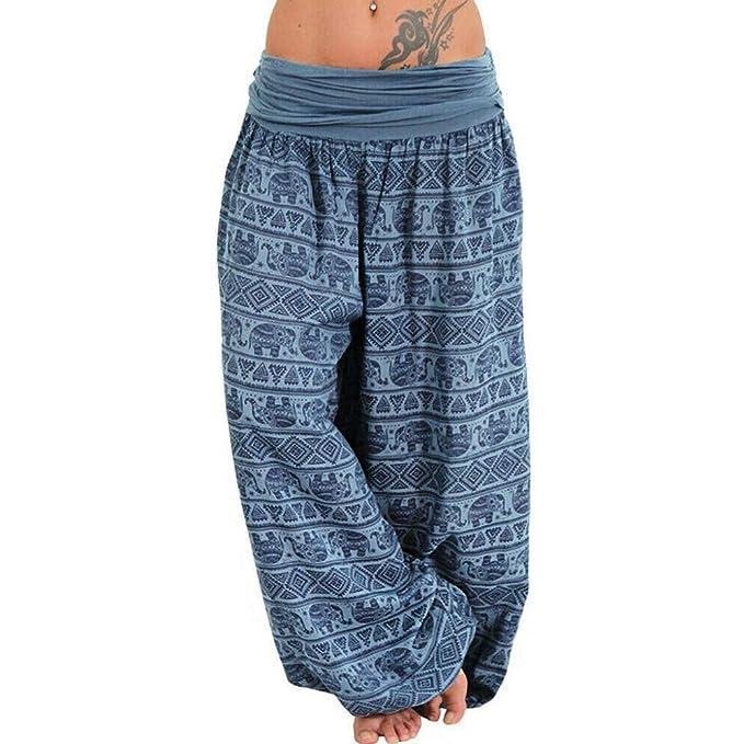 ZEZKT pantalones de yoga sueltos mujer harem pantalones ...