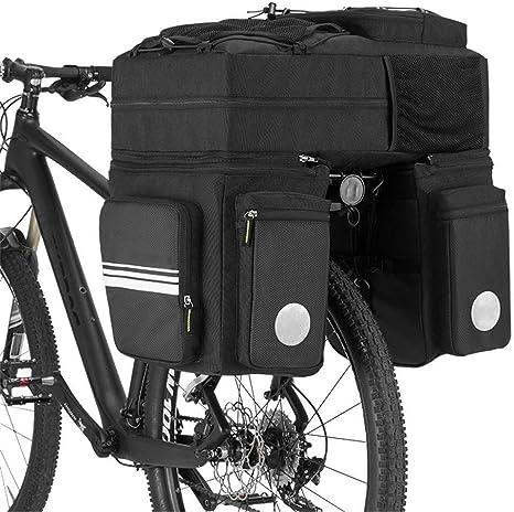 Bolsa De Motocicleta De Gran Capacidad 48L Bicicleta Mágica Bolsa De Bicicleta Trasera Estante Bolsa De Asiento Trasero Reflectante Bicicleta Mochila Bicicleta Bolsa De Montar Bolsa Lateral Unisex: Amazon.es: Deportes y aire