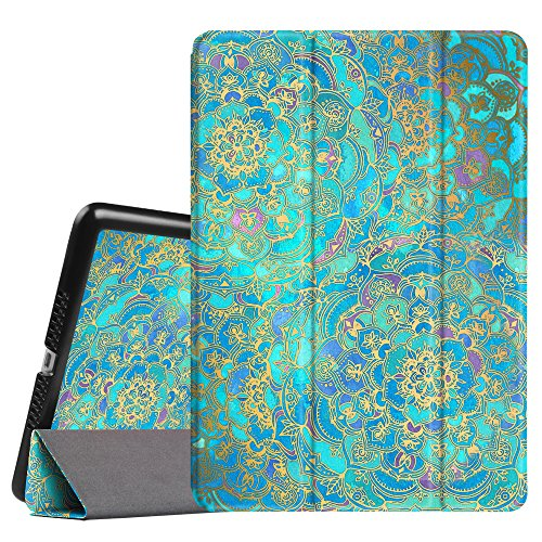 Fintie iPad Mini 3/2/1 Case - Lightweight Slimshell Smart Stand Cover with Premium PU Leather Back Protector for Apple iPad Mini 1/Mini 2/Mini 3 (Auto Wake/Sleep), Shades of Blue