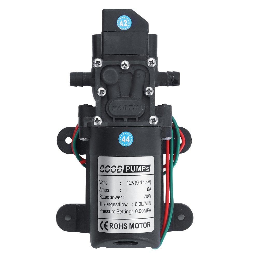 Fy-Light Diaphragm Pump Water Pump 12 V 131PSI 6L/m Water High Pressure Diaphragm Self Priming Pump for Caravan Boat RV Garden