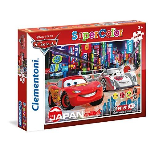 Clementoni 247417 - Puzzle - Cars - 2 x 20 Pièces