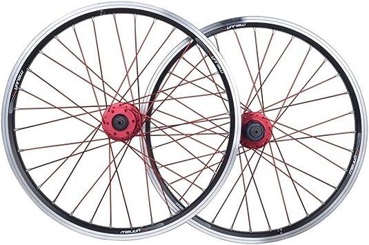 MZPWJD Juego Ruedas Bicicleta Plegable 20 Pulgadas Rueda Bicicleta ...