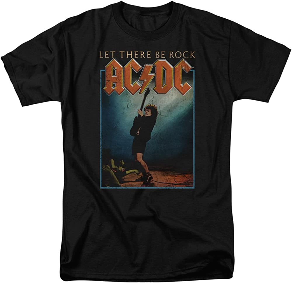 AC//DC Let There Be Rock Homme T-Shirt Manches Courtes Gris