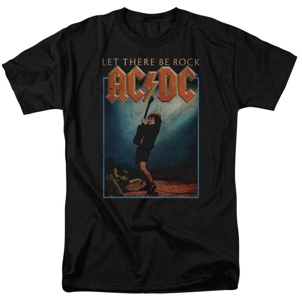 ACDC Let There Be Rock Mens Short Sleeve Shirt Trevco