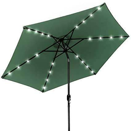 Sorbus LED Outdoor Umbrella, 10 Ft Patio Umbrella LED Solar Power, With  Tilt Adjustment