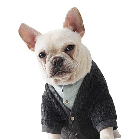 Mieel Cappotto Cucciolo Caldo Vestiti Autunno Inverno Animale Domestico  Maglieria Traspirante Cane Vestiti Slim Fit Eleganti 17e869dd8c3
