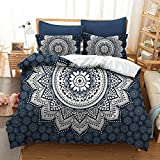 quilt gypsy - Chic D Boho Bohemian Bedding Sets Full Size, Mandala Pattern Hipster Gypsy Duvet Cover Set Quilt Bedspread - 3 Pcs