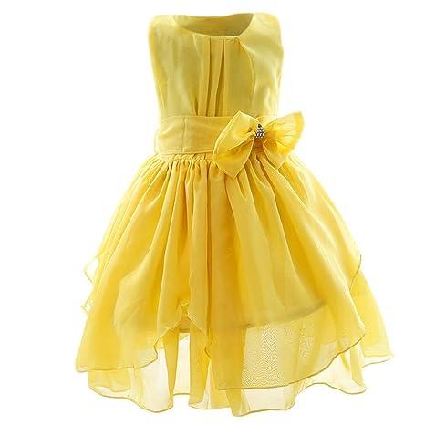 Vestito giallo bimba