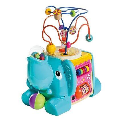 Woomax- Elefante De Madera Con Actividades 5 En 1 ...