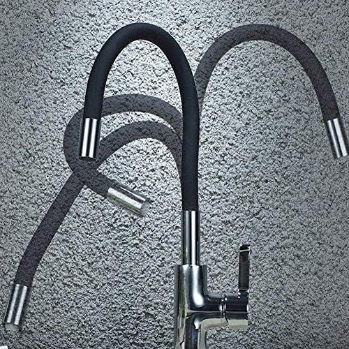 SYF-SYF 背の高いカウンタートップ洗面ミキサータップの滝の浴室のシンクのキッチン温水と冷水の蛇口家庭回転キッチンのシンクの蛇口は、バルブ単穴の蛇口をミキシングタップ 蛇口