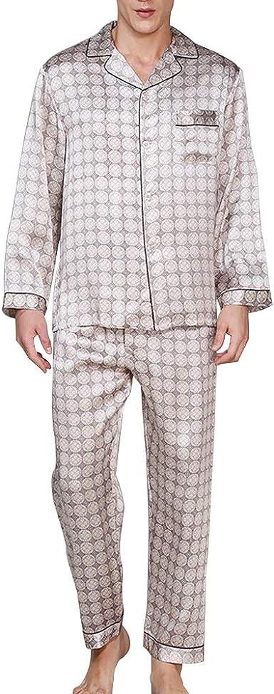 YONGYONG Camisa For Hombre Pantalones De Manga Larga Pijama ...