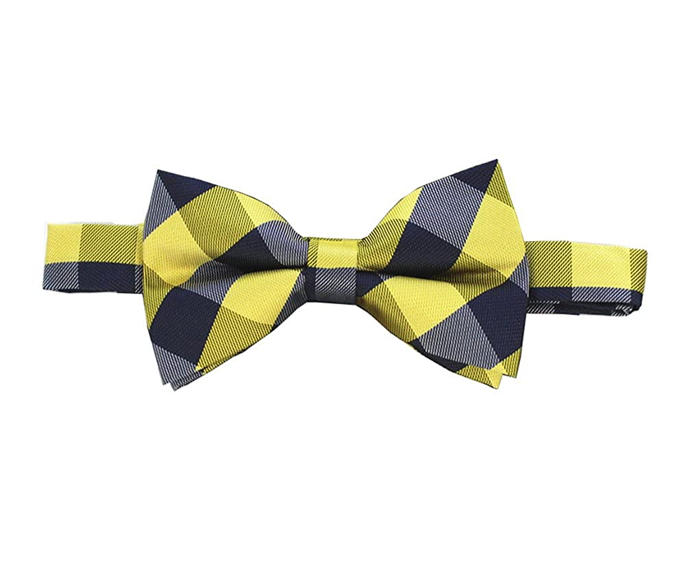 L04BABY Mens Orange lattice Bowtie Set:Bowtie+Handkerchiefs+Pair Of Cufflinks