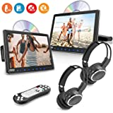 Car Headrest Mount DVD Monitor - 9.4 Inch Vehicle DVD Video Player,USB TF Card AV Input | Headphone Output, Touch…