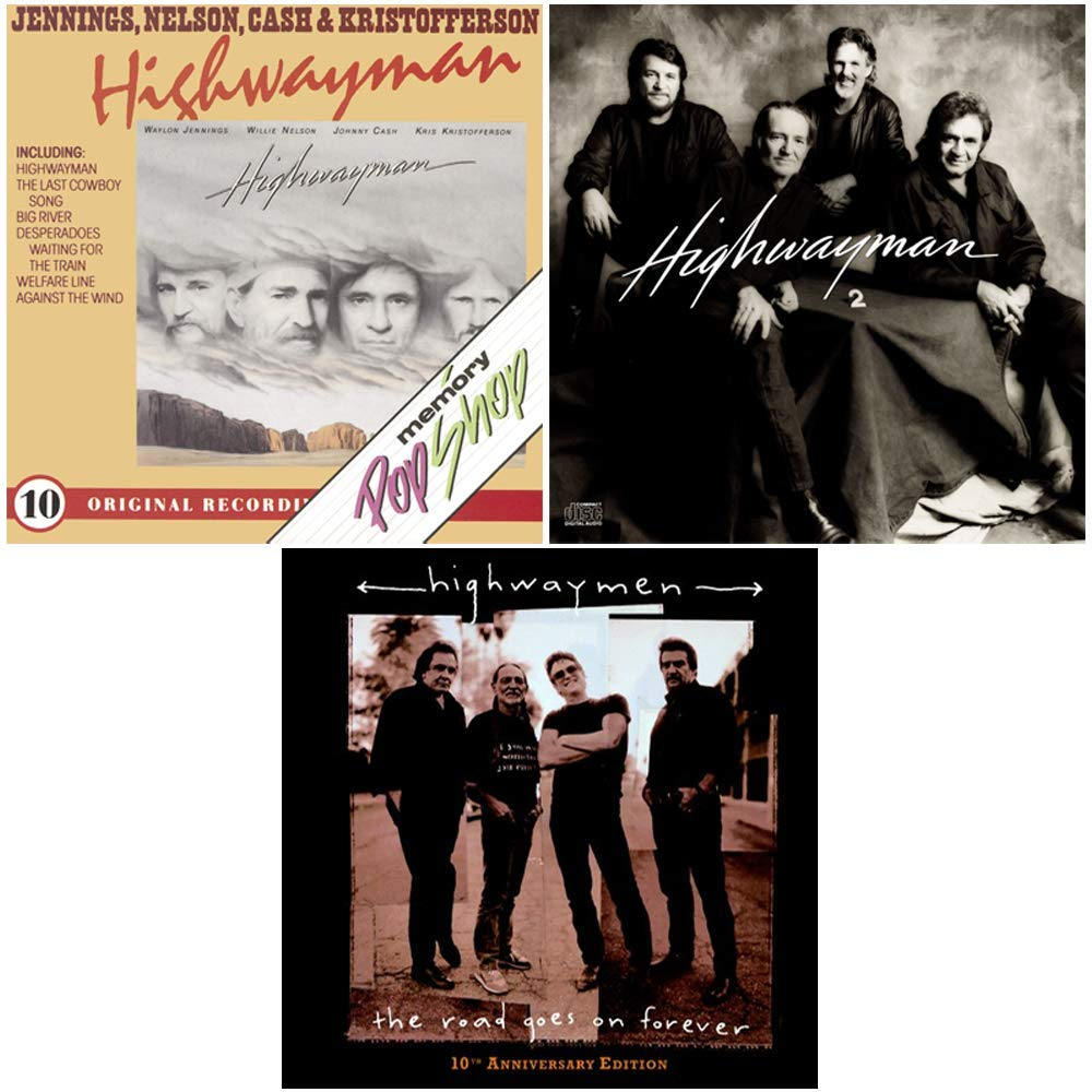The Highwaymen: Complete Studio Album Discography - 3 CDs (Highwayman / Highwayman 2 / The Road Goes On Forever) by generic