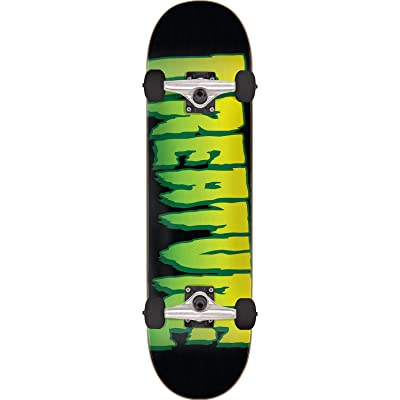 "Creature Skateboards Logo Black/Green Mid Complete Skateboards - 7.5"" x 30.6"" : Sports & Outdoors"