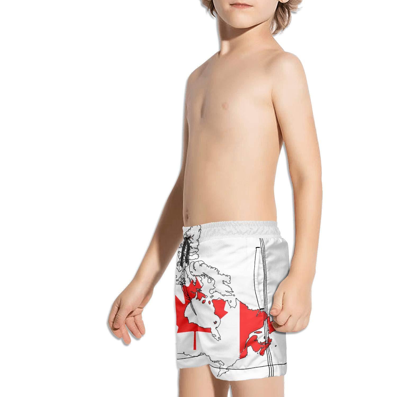 Landayboys Boys Summer Swim Trunks Beach Shorts Camo Waving USA American Flag Quick Dry Swim Trunks