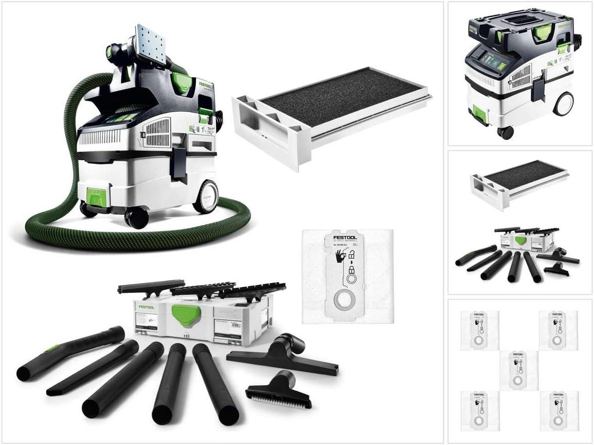 Festool CTL MIDI I Cleantec - Aspirador (15 L) L (574832) + filtro húmedo NF-CT + bolsas de filtro SC-FIS-CT + kit de limpieza K-RS-Plus: Amazon.es: Bricolaje y herramientas