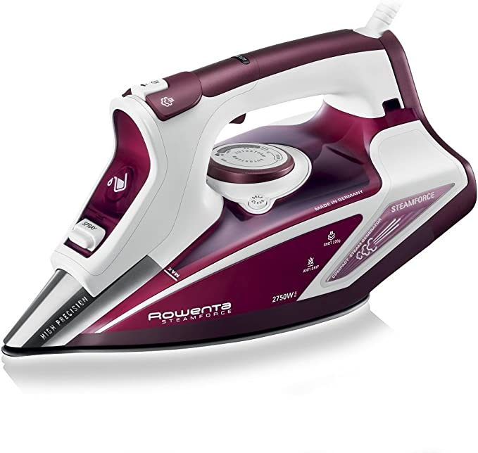 Rowenta Steam Force Steam Iron DW9230 - White and Red [Energy Class A]
