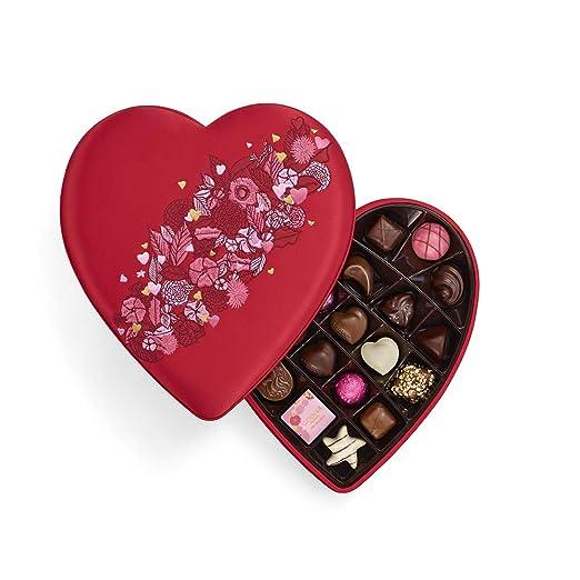 Godiva Chocolatier Godiva Chocolatier Valentines Day Fabric Heart, 25pc Gift Box, Gifts for Her, 11.4 Ounce