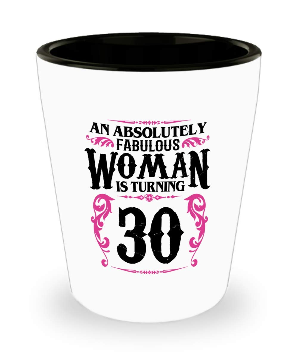 30 Year Old Women Shot Glass Funny Gifts