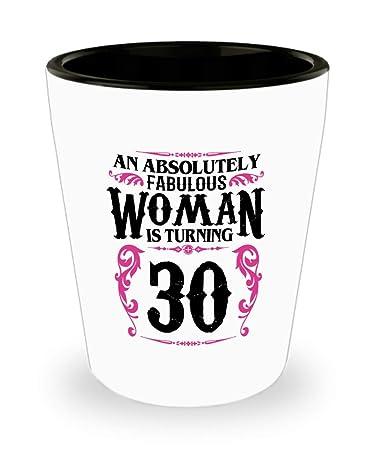Amazon.com: Taza de cerámica para mujer de 30 años de edad ...