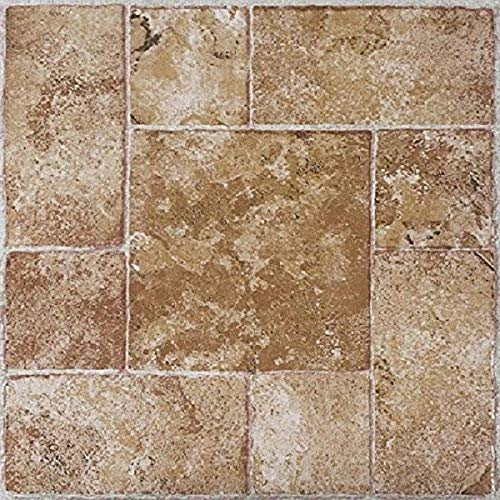 Achim Home Furnishings FTVMA42020 Nexus 12-Inch Vinyl Tile, Marble Beige Terracotta, 20-Pack (12x12 Beige Tile Flooring)