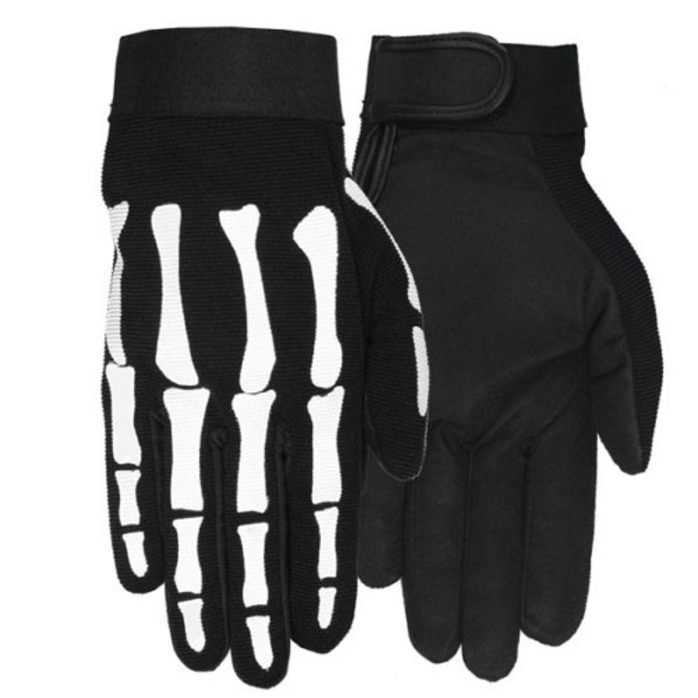 Leather motorcycle skeleton gloves - Leather Motorcycle Skeleton Gloves 31