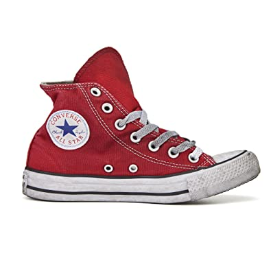 Converse Star Hi In Tela All Ltd Unisex Adulti Hightop Sneaker Rosso 7 UK