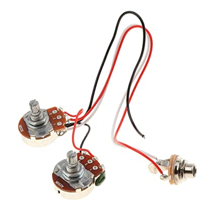 amazon com: magideal bass wiring harness prewired musical instrument for  jazz bass guitar parts: musical instruments