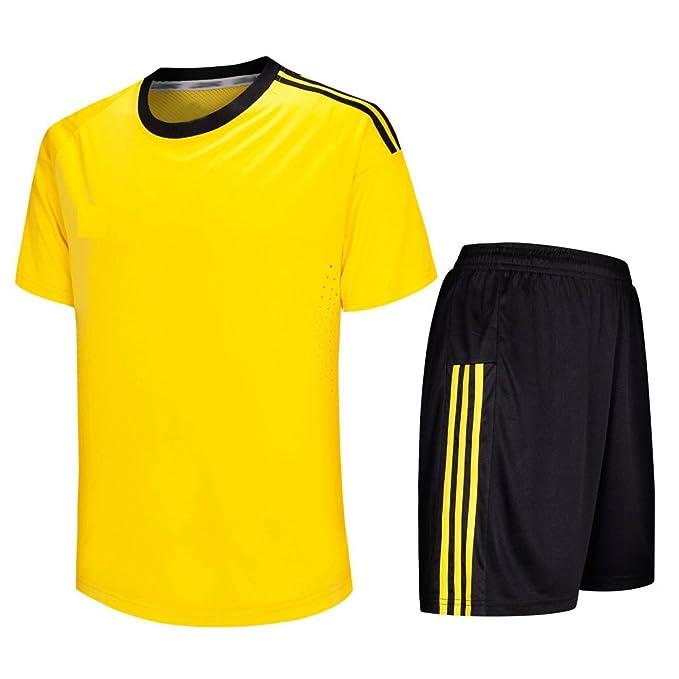 XFentech Jersey de fútbol, Camiseta de fútbol de Manga Corta + Pantalones de fútbol, Traje de Partido de fútbol para Hombres y niños: Amazon.es: Ropa y ...