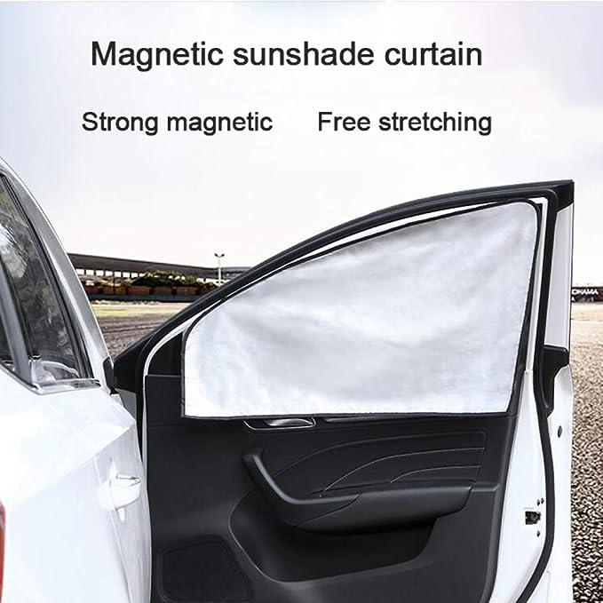 Autom/óviles Cubierta de la ventana del coche Sombrilla Cortina Cortinas magn/éticas Bloque solar Im/án Ventosa Verano Beb/é Sombrilla Protector solar Aislamiento t/érmico Bloque lateral UV
