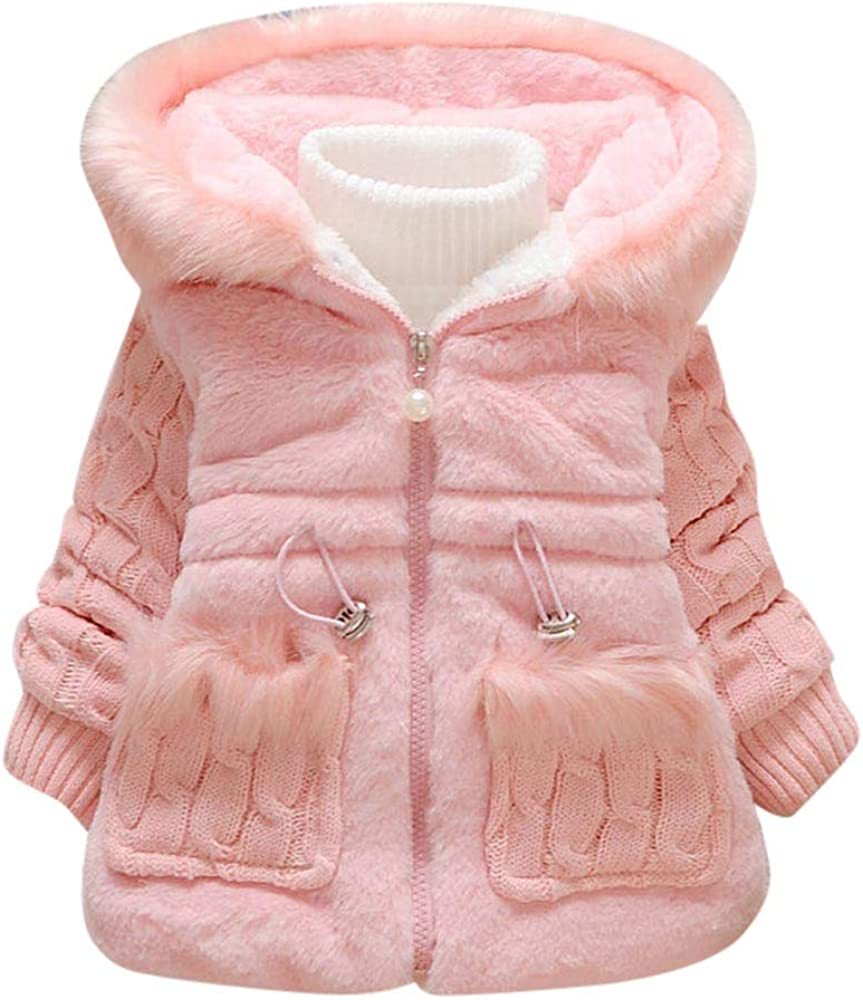 KONFA Teen Toddler Baby Girls Boys Winter Warm Clothes,Hooded Cotton Down Jacket Coat,Kids Cartoon Thick Snowsuit Outerwear