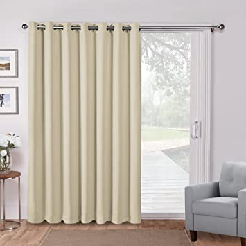 Attrayant PONY DANCE Patio Door Curtains Vertical Blind Thermal Insulated Room  Divider Screen Partition Extra Wide Drapes