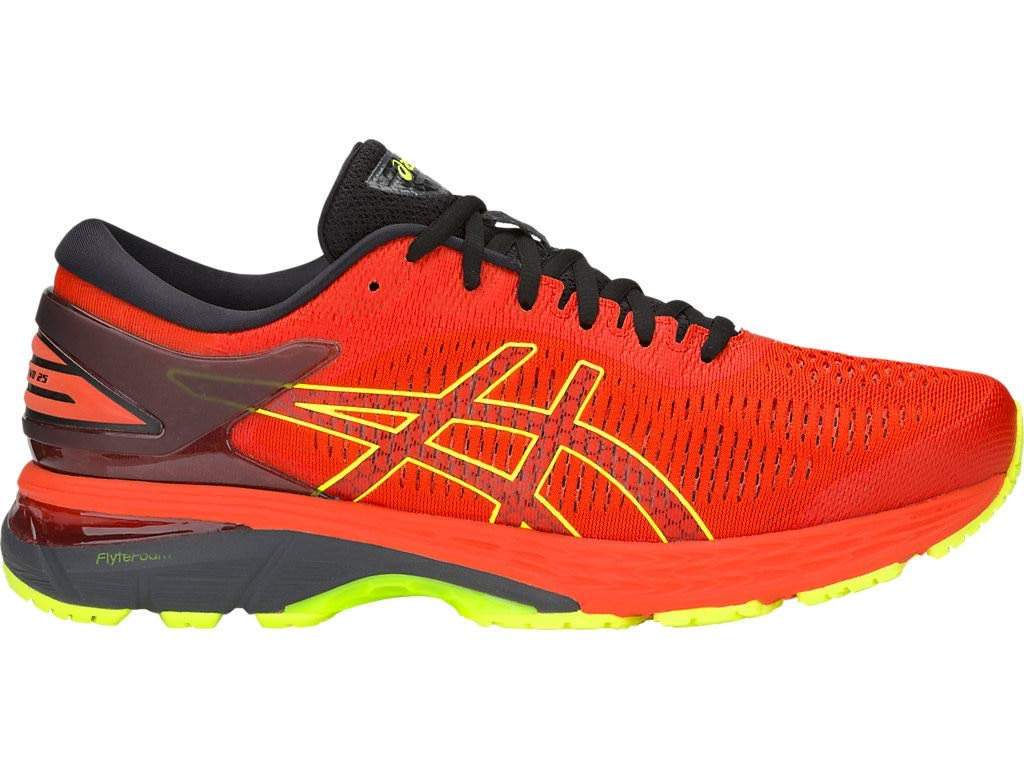 ASICS Men's Gel-Kayano 25 Running Shoes, 9M, Cherry Tomato/Safety Yellow