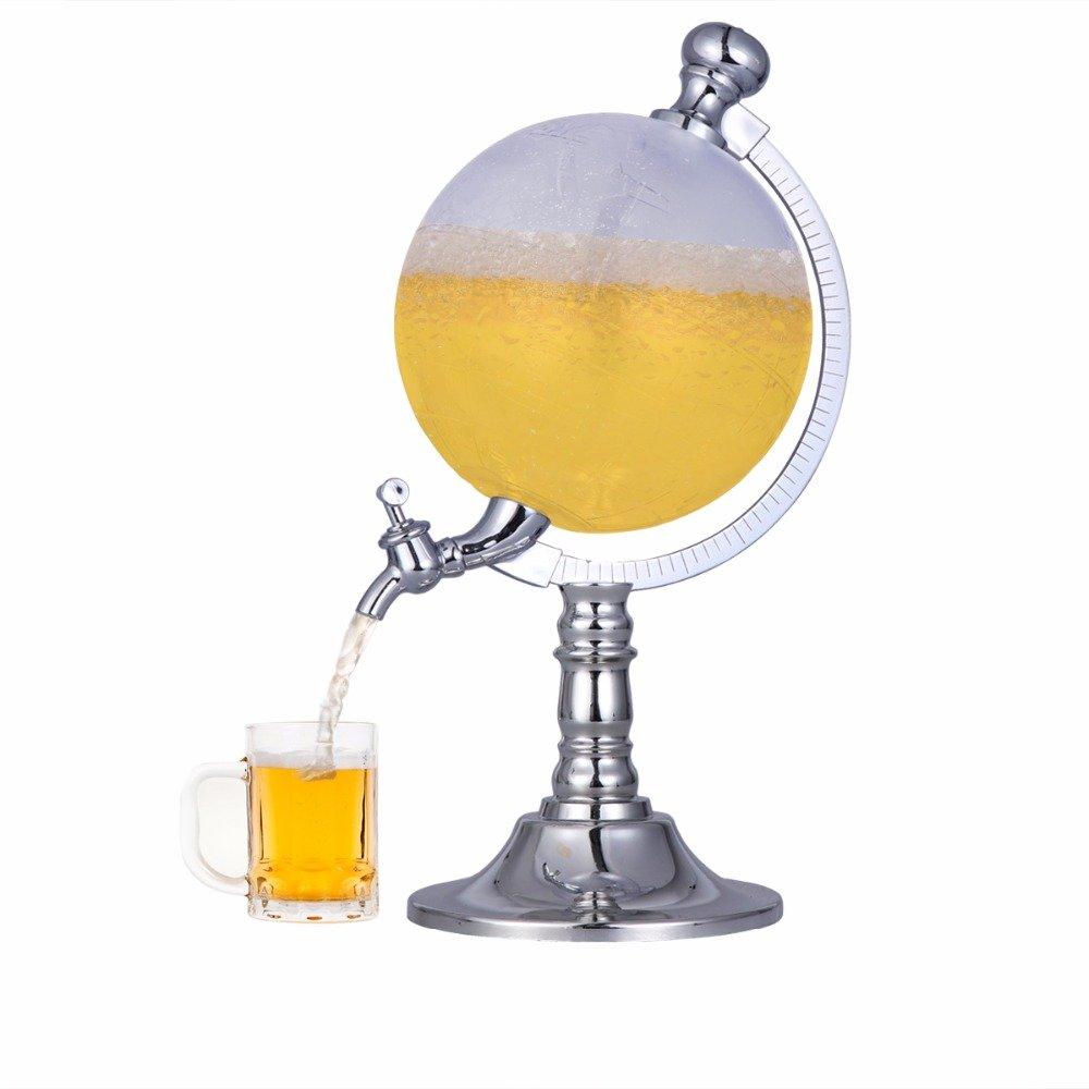 Funnytoday365 1 5L Mini Globe Wine Pourer Wine Rack Dispenser Barware Beer Beverage Alcohol Pouring Machine by FunnyToday365