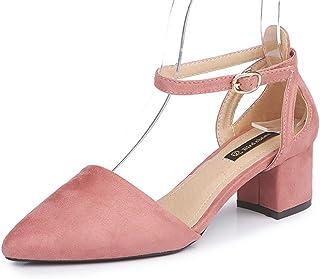 KUKI Mme grossière avec flock toe tête boucle avec des chaussures de dames sauvages, 1, US6/EU36/UK4/CN36