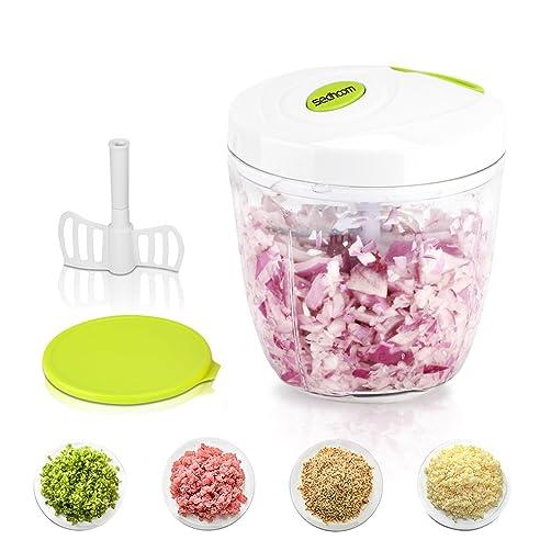 Gemüseschneider 5 Klingen 6 Tassen,Sedhoom Obst Und Gemüse Zwiebel Zerkleinerer  Küche Multizerkleinerer