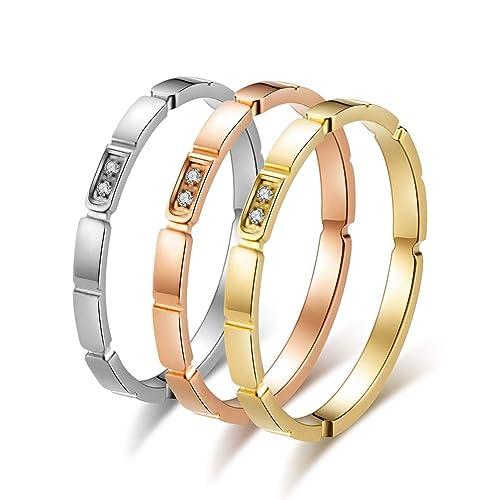 Amazon.com: Excow Jewelry - Anillo de acero inoxidable para ...