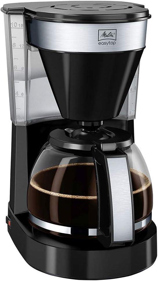 Melitta Easy Top Cafetera de filtro con jarra de vidrio, Capacidad ...