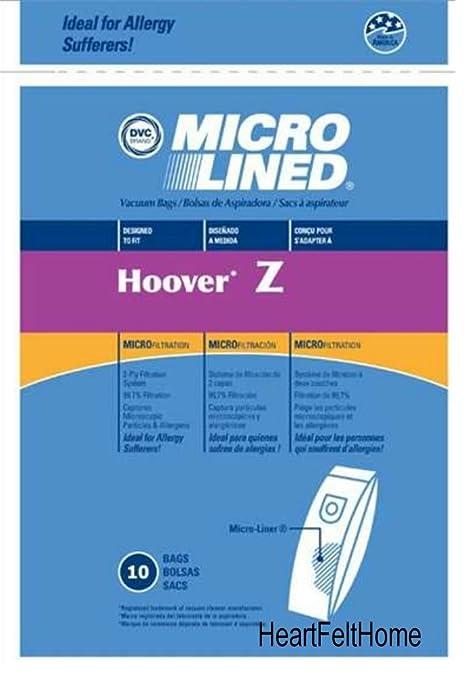 DVC 456764 Hoover Z Paper Bag Microlined (10 Pack)