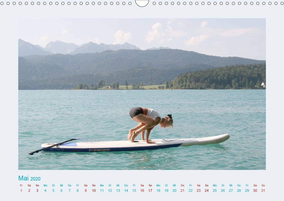 Faszination Yoga - SUP Wandkalender 2020 DIN A3 quer : Yoga ...