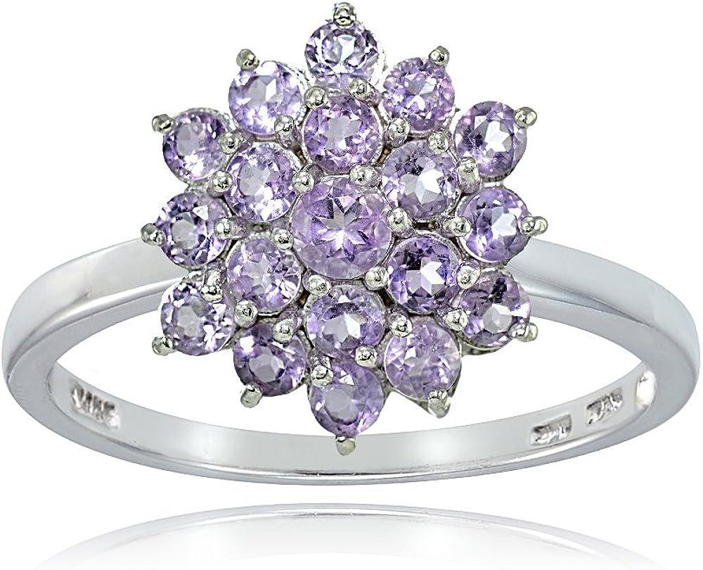 Purple Ring Purple Gemstone Ring Amethyst Silver Jewellery Sterling Silver Jewellery Silver Ring Amethyst Floral Sterling Silver Ring